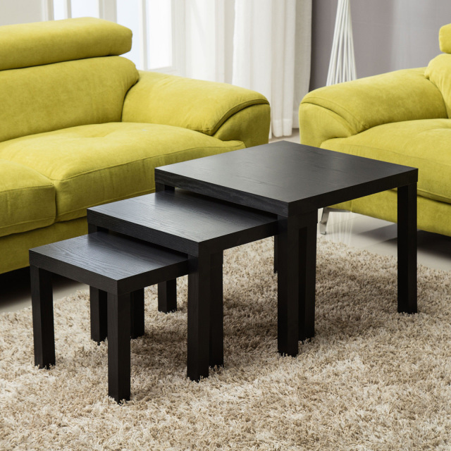 Coffee Side Tables Living Room Furniture: Modern Nest Of 3 Tables Side End Coffee Table Living Room